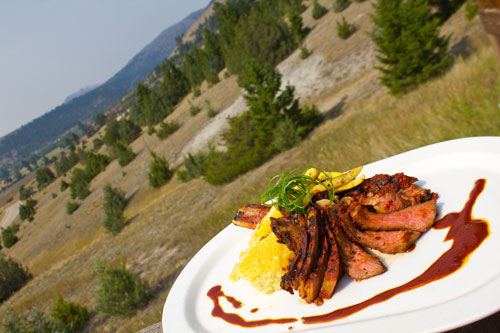 chef prepared bison for Foley Food & Wine Society