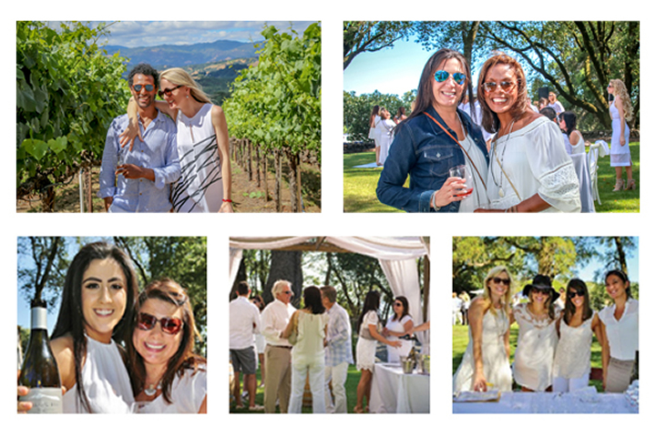 Guests Enjoying Last Year's White Party on the Hill