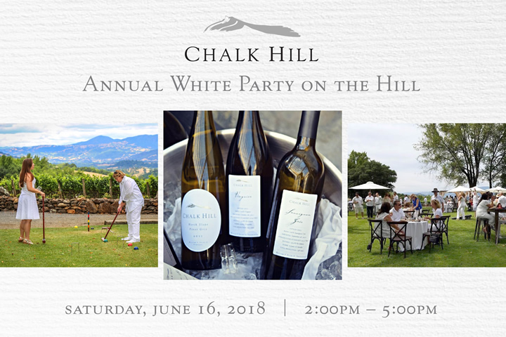 Chalk Hill Estate 5th Annual White Party on the Hill - Saturday, June 16, 2018