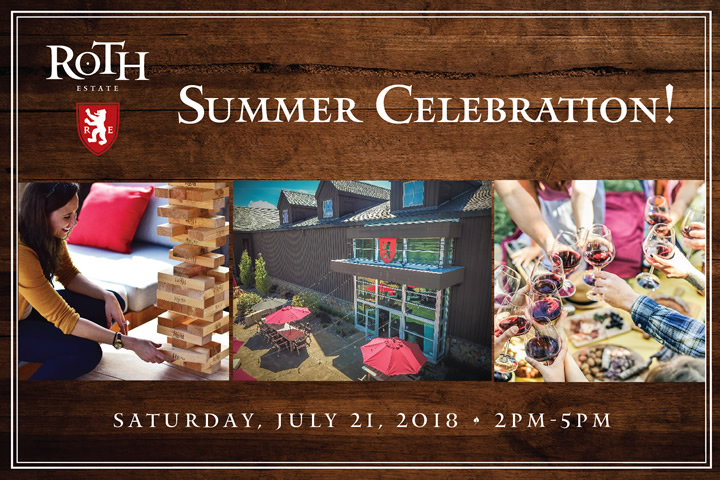 Roth Summer Celebration - Saturday, July 21, 2018 from 2-5pm