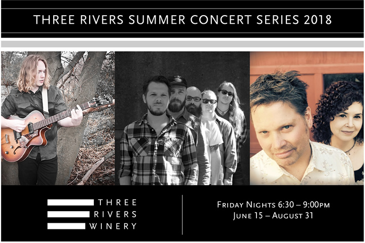 Three Rivers Summer Concert Series 2018 - Friday Nights - 6:30-9pm - June 15-August 31, 2018