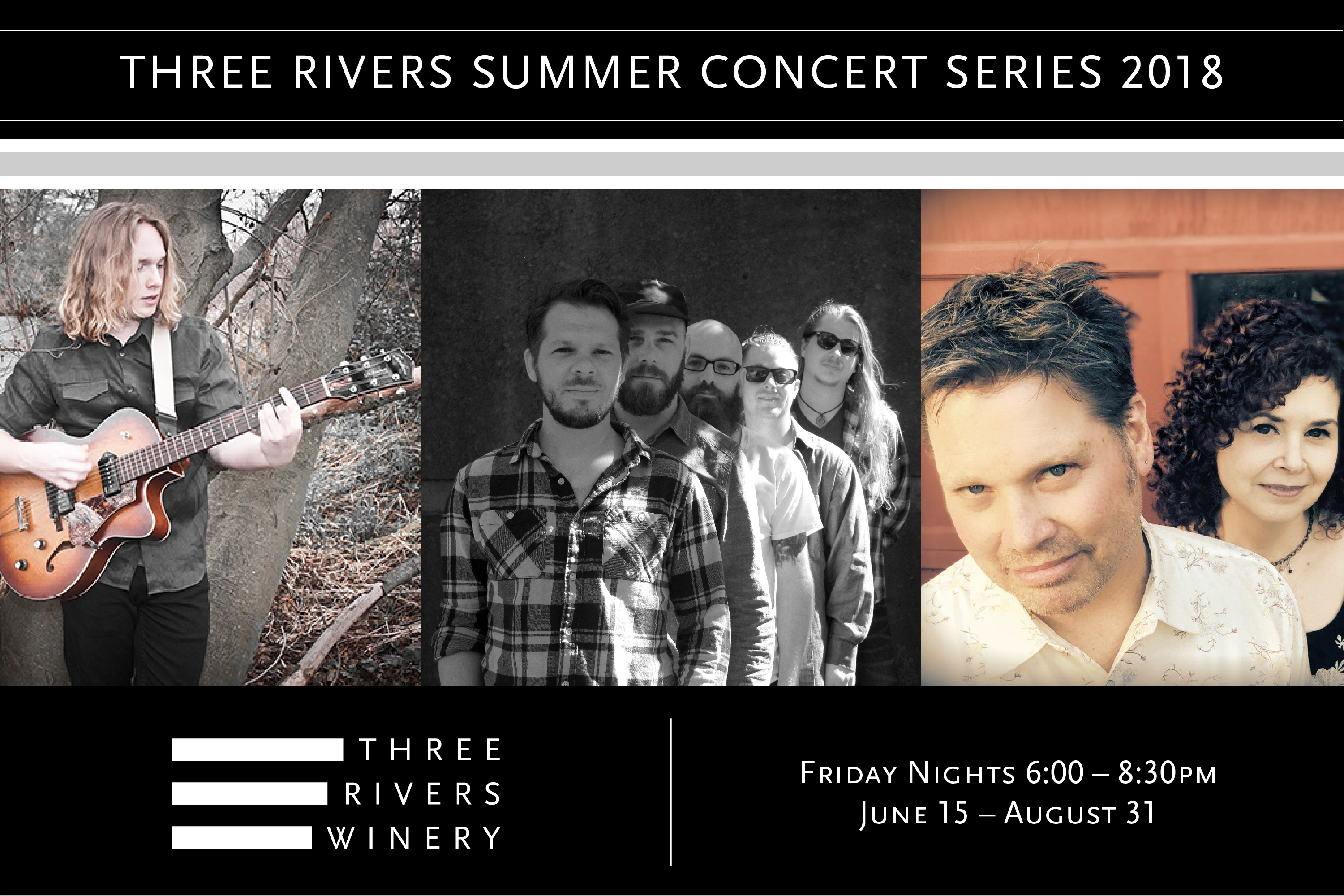 Three Rivers Summer Concert Series 2018 - Friday Nights - 6:00-8:30pm - June 15-August 31, 2018