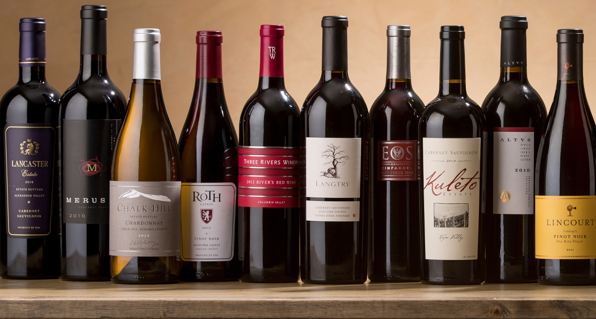 A lineup of Foley Food & Wine Society Wines