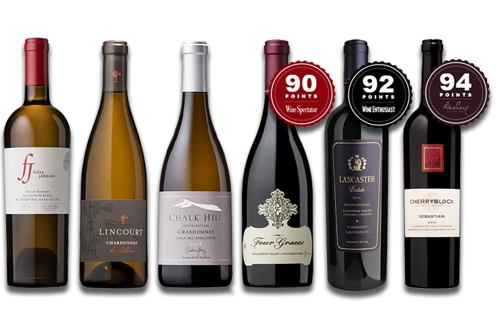 6-Pack Luxury Mixed Red & White Wines