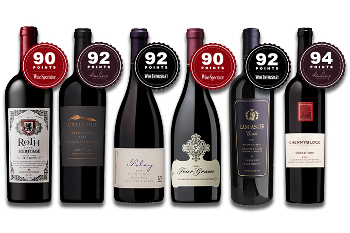 6-Pack Luxury Red Wines Mixed Varietals