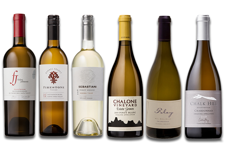 6-Pack Luxury White Wines Mixed Varietals