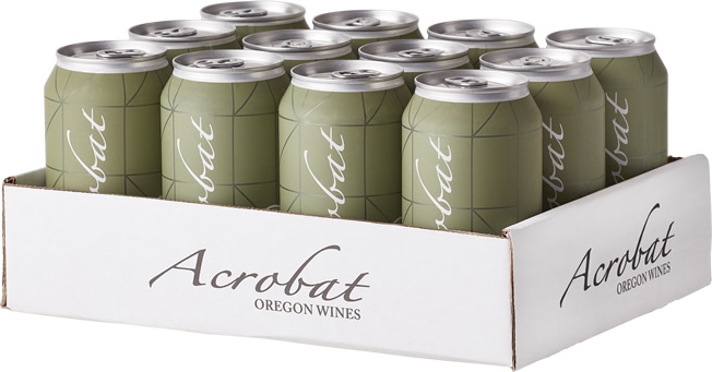 12-pack of Acrobat Pinot Gris 375ml wine cans