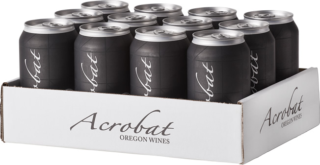 12 pack of Acrobat Pinot Noir 375ml wine cans