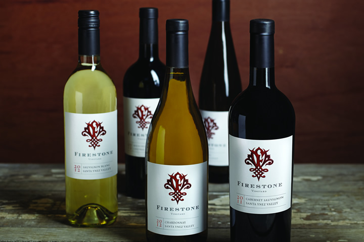 5 bottles of wine from Firestone Vineyard