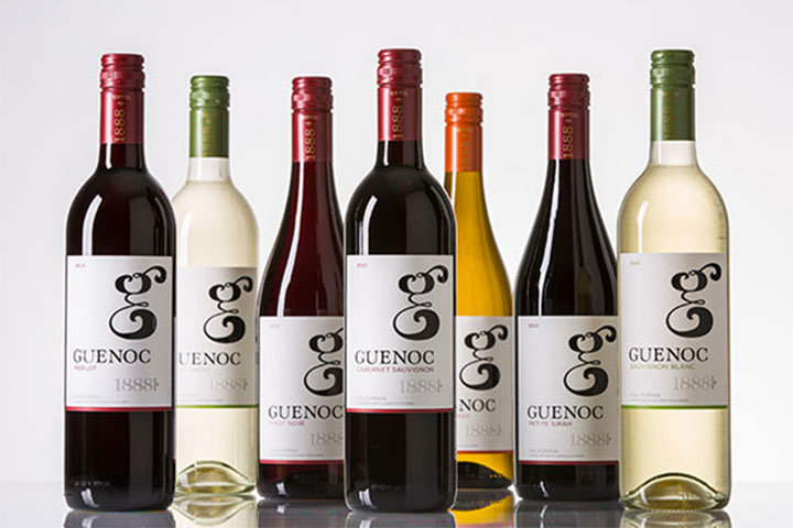 Guenoc California wine bottles
