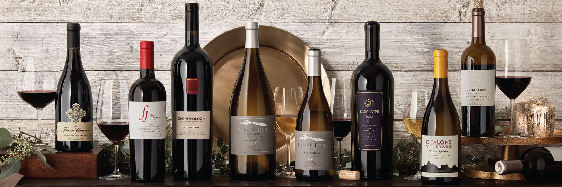 Holiday Lineup of Foley Family Wines Wine Bottles