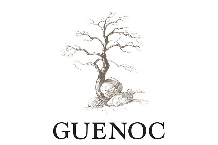 Guenoc Logo with tree and rocks