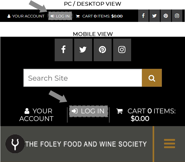 How to Log In to View Foley Food & Wine Society Points