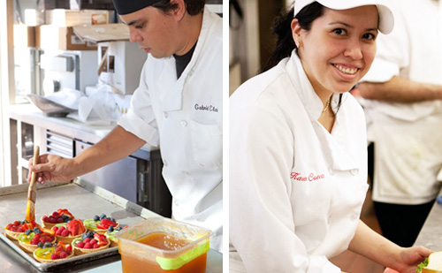 students at the School of Culinary Arts SBCC