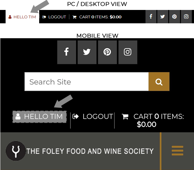 How to View Foley Food & Wine Society Points