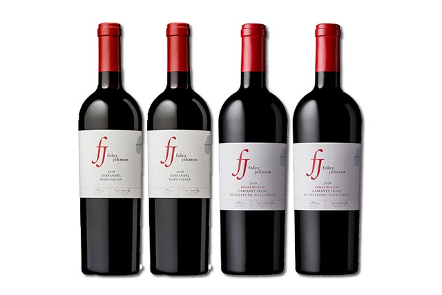 Four bottles of red Napa Valley wine from Foley Johnson