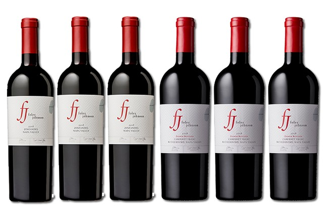 6 bottles of red Napa Valley wines from Foley Johnson