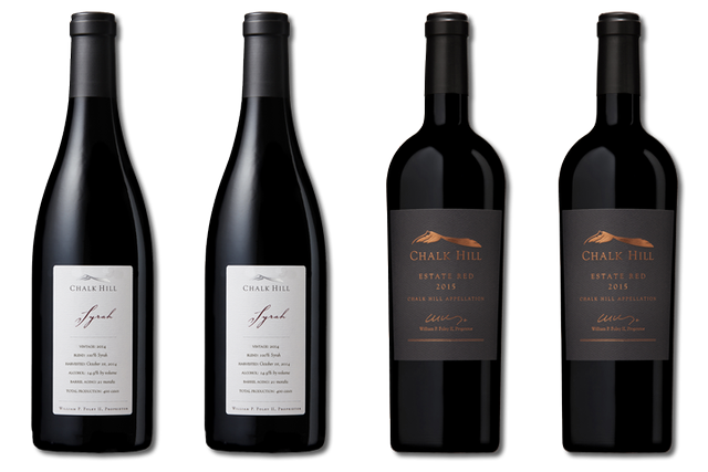 4 Bottles of red wines from Chalk Hill