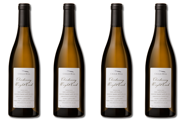 4 Bottles of white wines from Chalk Hill