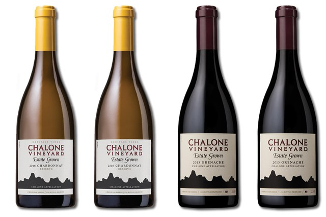 4 Bottles of mixed red and white wines from Chalone Vineyard