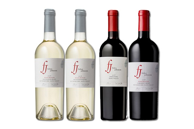 4 bottles of mixed red and white wine from Foley Johnson