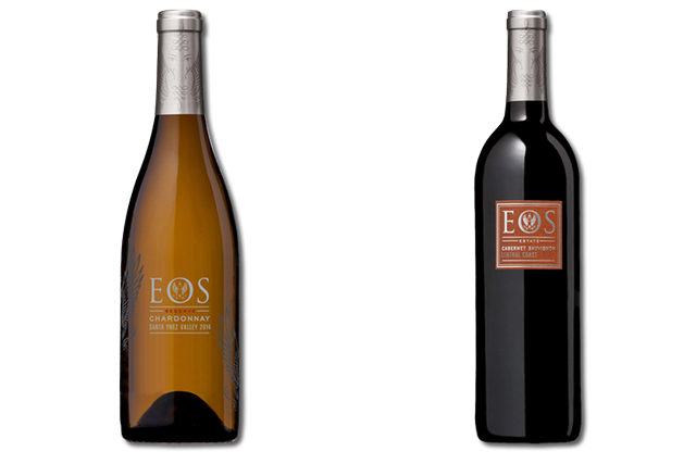 2 Bottles of mixed red and white wines from Eos
