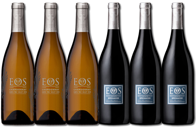 6 Bottles of mixed red and white wines from Eos