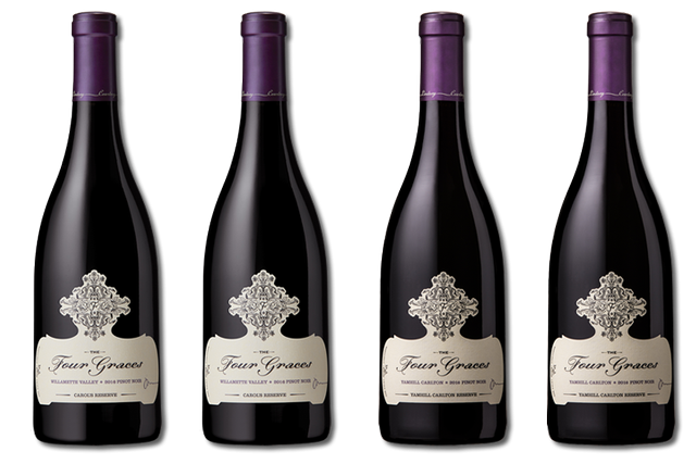 4 Bottles of Red Wine from The Four Graces