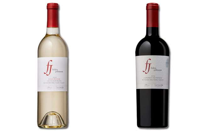2 bottles of mixed red and white wine from Foley Johnson