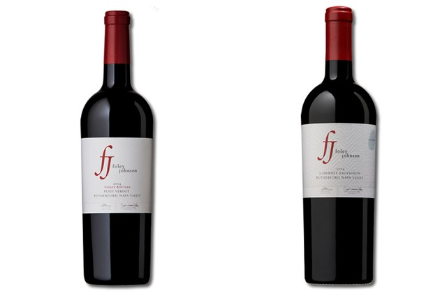 2 bottles of red Napa Valley wine from Foley Johnson