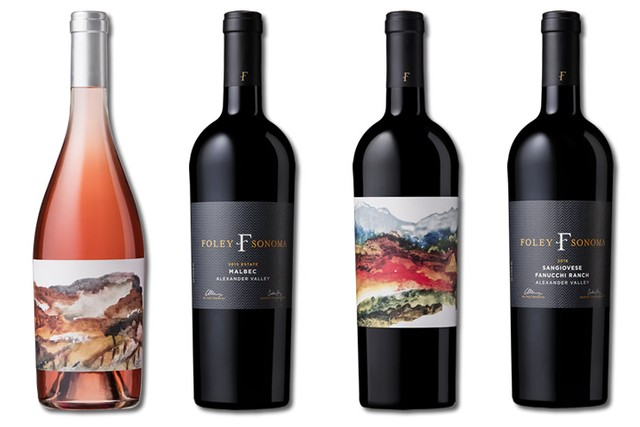 4 bottles of mixed reds and rose wines from Foley Sonoma