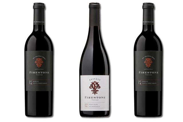 3 bottles of red wines from Firestone Vineyard