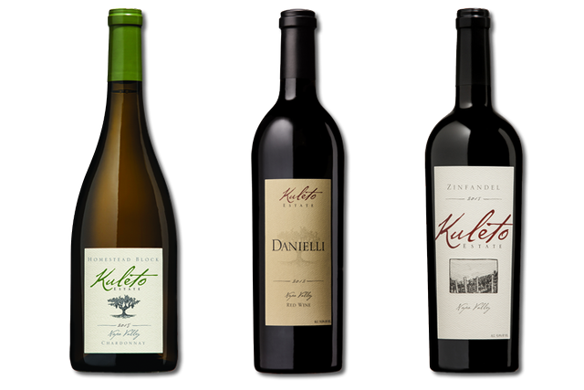 3 Bottles of Mixed Red and White Napa Valley Wines from Kuleto Estate