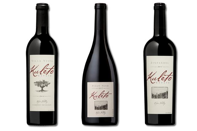 3 Bottles of red Napa Valley wines from Kuleto Estate