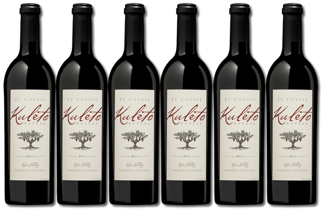 6 bottles of Napa Valley Cabernet Sauvignon from Kuleto Estate