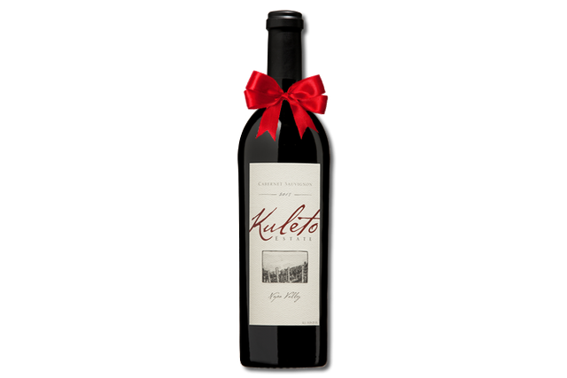 One magnum wine bottle of Kuleto Napa Valley Cabernet Sauvignon wine