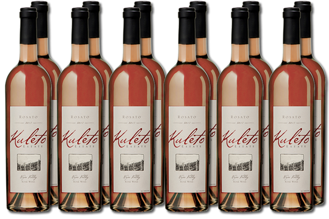 12 bottles of Napa Valley Rosato Wine from Kuleto Estate