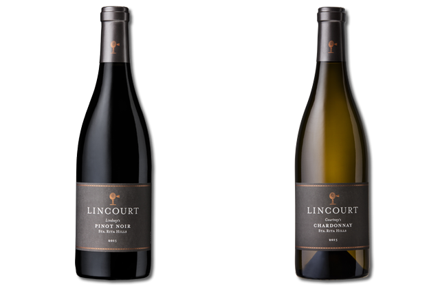 2 Bottles of mixed red and white wine from Lincourt Vineyards