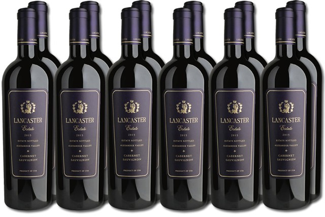12 Bottles of Red Wine from Lancaster Estate in Alexander Valley