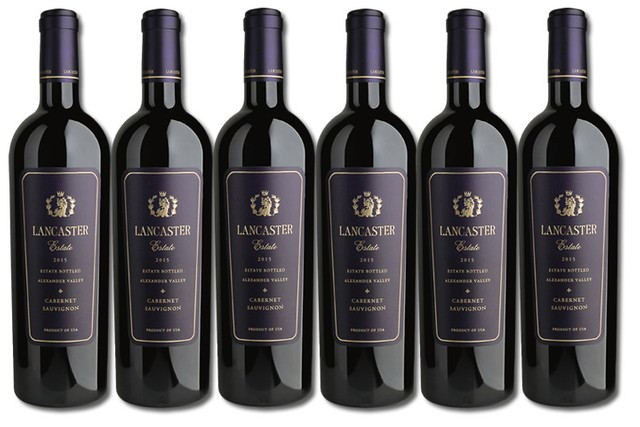 6 Bottles of Red Wine from Lancaster Estate in Alexander Valley