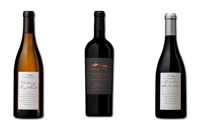 3 Bottles of mixed red and white wines from Chalk Hill