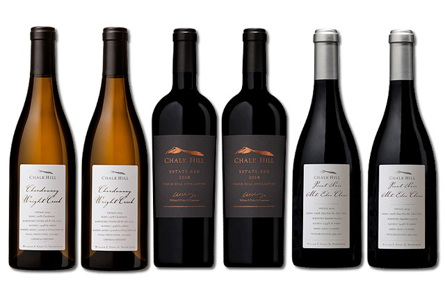 6 Bottles of mixed red and white wines from Chalk Hill