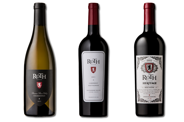 3 Bottles of Mixed Red and White Wines from Roth Estate Winery