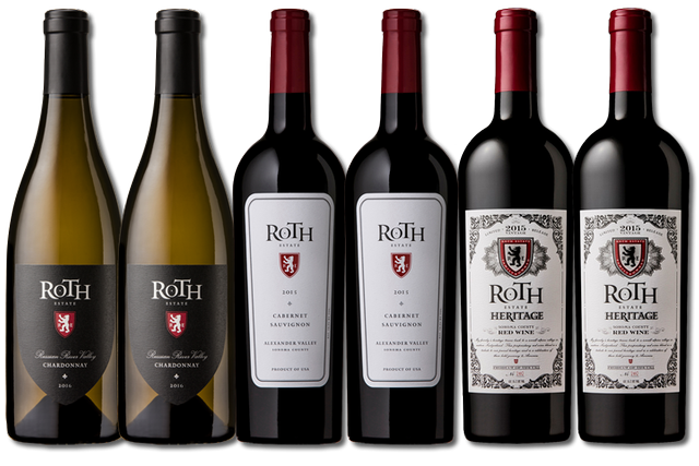 6 Bottles of Mixed Red and White Wines from Roth Estate