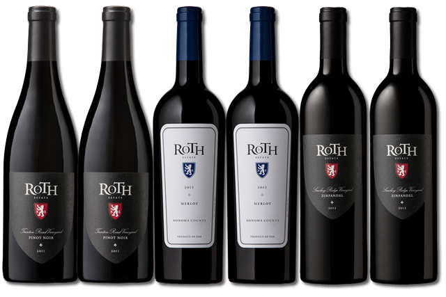6 Bottles of red wine by Roth Estate