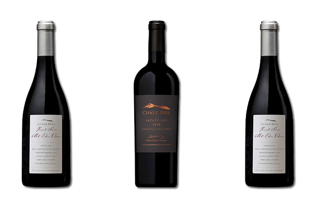 3 Bottles of red wines from Chalk Hill