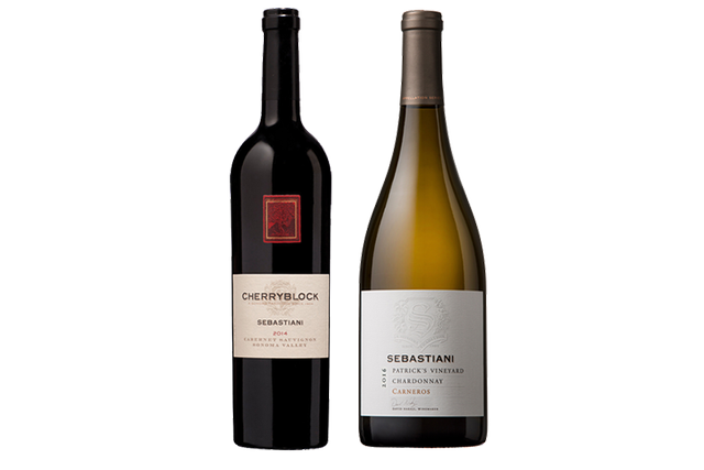 2 Bottles of Mixed Red and White Wines by Sebastiani