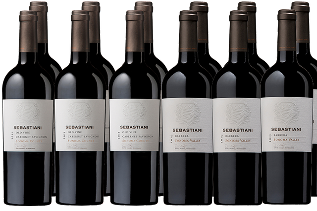12 Bottles of Red Wine by Sebastiani