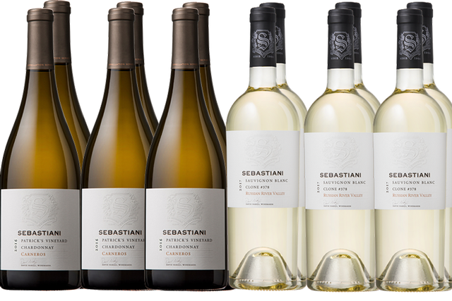 6 Bottles of White Wine by Sebastiani