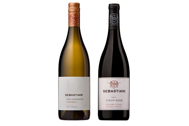 2 Bottles of Mixed Red and White Wines from Sebastiani